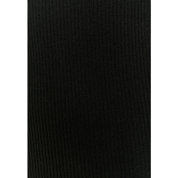 Einfarbiges langärmliges Mini Strickkleid