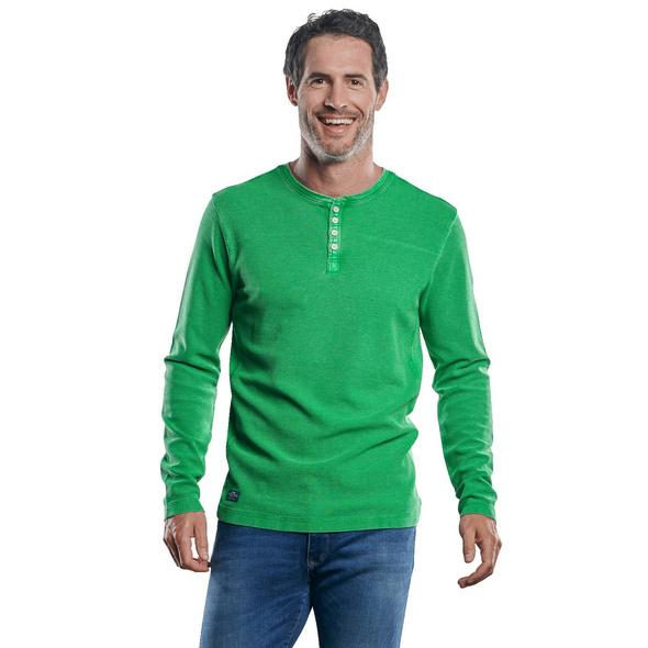 Strukturiertes Henley Shirt