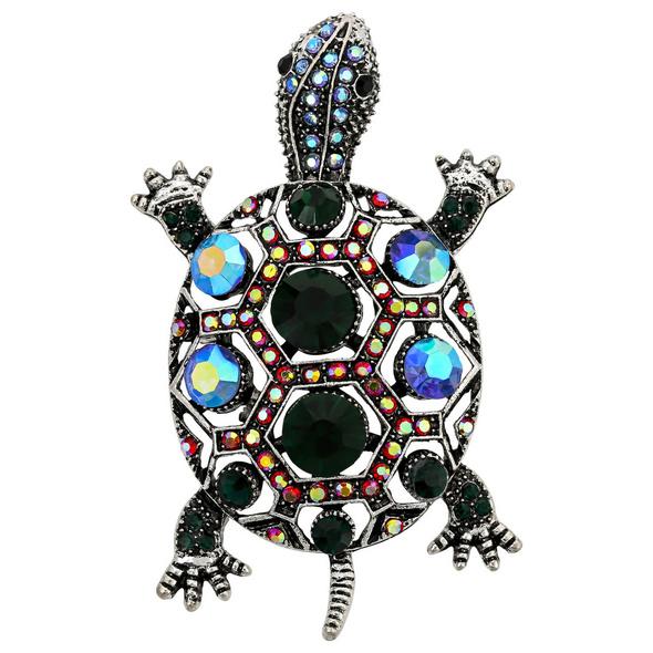 Brosche - Crystal Turtle