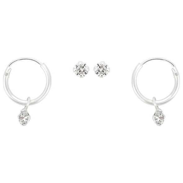 Ohr-Set - Hanging Zirconia
