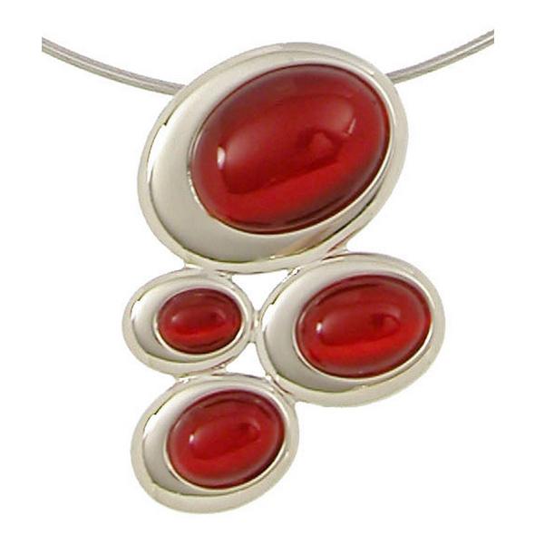 Kette - Katzenauge Rot