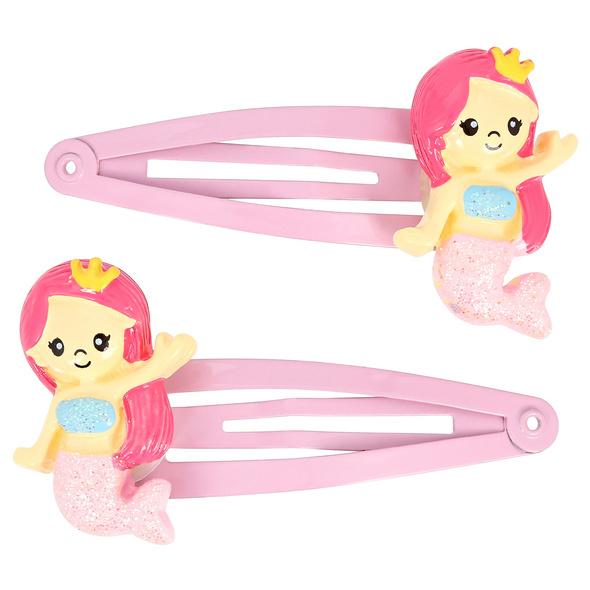 Kinder Haarspangen-Set -  Pink Mermaids
