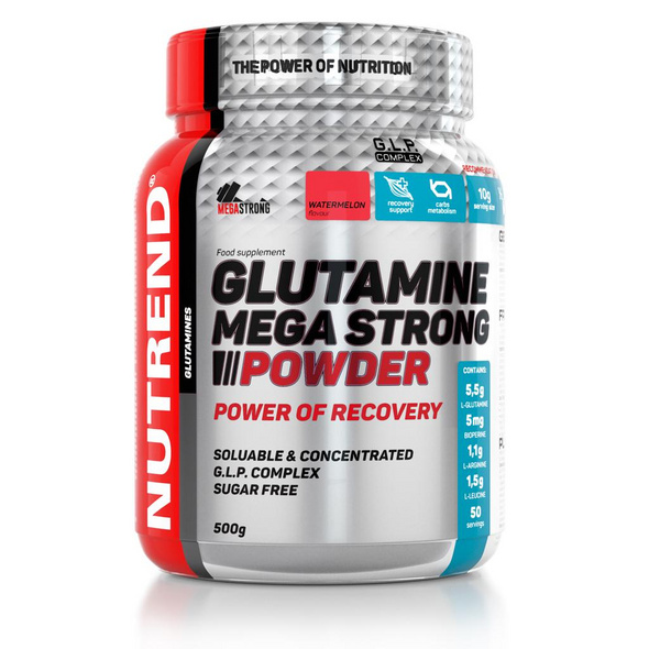 Nutrend Glutamine Mega Strong Powder 500g-Punch&Cranberry