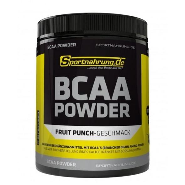 Sportnahrung.de BCAA 2:1:1 - hochdosiertes BCAA-Pulver im Verhältnis. zur Unterstützung von Muskelaufbau (Schwarze Johannisbeere). 500 g