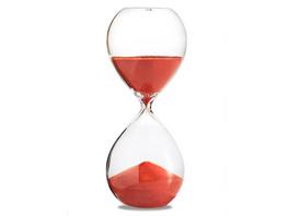 Sanduhr 'Time Out' 5 Minuten, orange